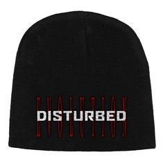 Disturbed Red Evolution Logo Embroidered Beanie Hat Whats New, Beanie Hats, Evolution, Logos, Red, A Logo