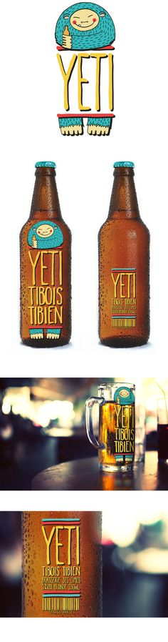 YETI BIERE by Viviane Montesse, via Behance