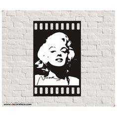 "Vinilo adhesivo decorativo de pared ""Fotograma Marilyn Monroe"" - DECORATECA"