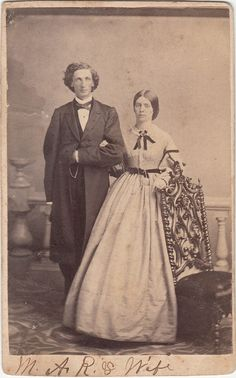 CDV Civil War Man & Wife Wedding Couple by LangdonsListPhotos, $3.00