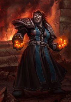 Female Dwarf Warlock