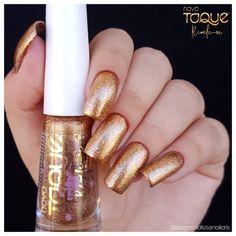 Irresistível by novo toque  Coleção revele-se Golden Nails, Toque, Nail Ideas, Nail Art, Fashion, Vip Nails, Nail Polish Colors, Beauty, Tips
