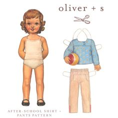 Oliver + S After School Shirt + Pants Pattern Size 6m-4T:Amazon:Arts, Crafts & Sewing