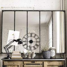 Miroir indus en métal L 180 cm CARGO VERRIÈRE