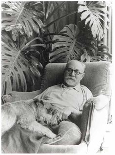 Henri Matisse and his dog