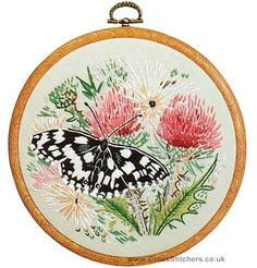 Animals - Marbled White Butterfly Embroidery Kit from Design Perfection