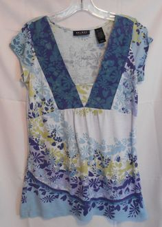 Axcess Size Small Deep V Neck Cap Sleeve  imported material Flora very soft #Style #Fashion #Deal