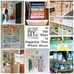 15 Awesome Ideas to Organize Your Whole Home! | Just a Girl and Her Blog