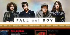 Great Examples of Rock Band Website Designs