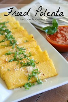 Fried Polenta --- I love Polenta.....but I always forget what an easy side dish or appetizer this would be for company