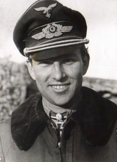 """Luftwaffe Lieutenant-General Gerhard """"Gerd"""" Barkhorn, the second greatest fighter ace of all time (right after fellow Luftwaffe pilot Erich Hartmann). He was awarded the Knight's Cross with Oak Leaves and Swords, though not Diamonds even after his 300th confirmed combat victory, on 5 January 1945. With the German defeat, he was taken prisoner by the allies while still in hospital from wounds suffered during his last mission. He was released shortly after in September of 1945 ."""