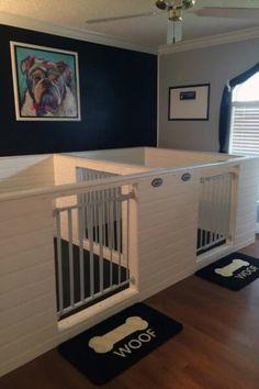 Dog Kennel Designs, Diy Dog Kennel, Kennel Ideas, Indoor Dog Kennels, Building A Dog Kennel, Custom Dog Kennel, Dog Room Design, Hotel Pet, Dog Room Decor