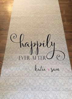 Items similar to FREE RUSH SPECIAL Happily Ever After Design- Handpainted Monogram Wedding Aisle Runner with Custom Sizing and Personalized Details on Etsy Aisle Runner Wedding, I Hope You Know, Monogram Wedding, French Lace, Happily Ever After, Custom Items, One Pic, Wedding Stuff, Wedding Ideas