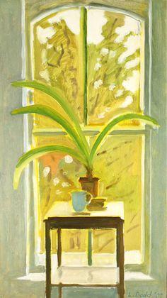Window with Amaryllis Plant, Dec. still life by Lois Dodd