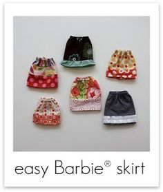 easy barbie skirt ~ photo tutorial ~ sewing project ~ craftinessisnotoptional.com