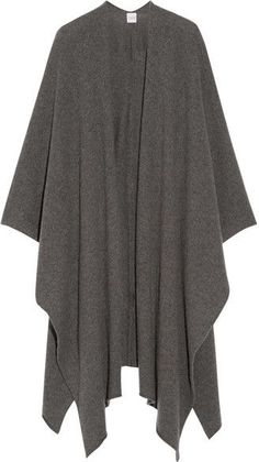 Madeleine Thompson - Cashmere Wrap - Anthracite - One size Saint James, Victoria Beckham, Paula Mendoza, Cashmere Wrap, Wrap Coat, Cable Knit Sweaters, Casual Sweaters, Pullover, Knitwear