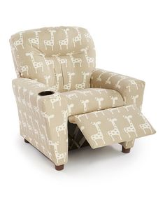 Loving this Giraffe Kid's Recliner on #zulily! #zulilyfinds