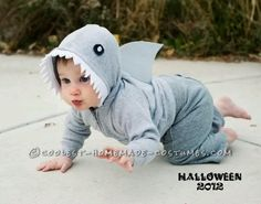 Coolest Baby Shark Costume… Enter the Coolest Halloween Costume Contest at http://ideas.coolest-homemade-costumes.com/submit/