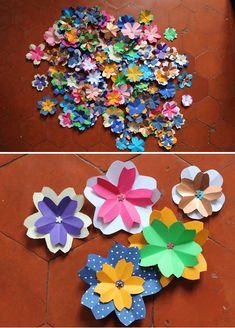 Paper flowers cluster DIY