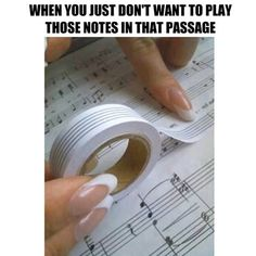 Musician's White Out. Tape that looks like he musical staff. Where can I get this stuff? Band Nerd, Piano Lessons, Music Lessons, Mundo Musical, Tenacious D, Music Classroom, Music Theory, Teaching Music, Piano Music