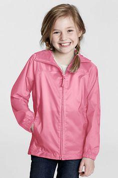 Girls' Packable Navigator Rain Jacket from Lands' End