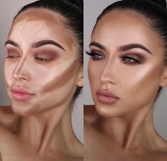 Actually so in love with the @sosu_bysuzannejackson cream contour sticks! There is a shade to warm the skin, add shadows to the skin and… Face Contouring, Contour Nose, Highlight Contour Makeup, Contour Makeup Products, Black Makeup Contouring, Make Up Highlighting, Simple Contouring, Best Contour Makeup, Contour For Round Face