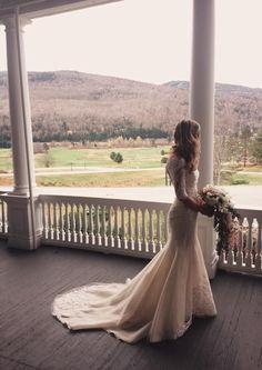 Ines Di Santo real bride in gown Elisavet.