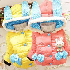 Baby Girl Warm Coats Children Jacket Kids Hooded Cartoon Winter Tops Costume at…