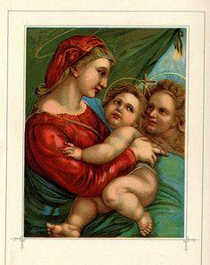 1911 Madonna and Child The Gladdest by HeatherwoodArtPrints, $9.00