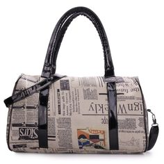 Fashion Retro Newspaper Printing Pattern Handbag Crossbody Bag  Worldwide delivery. Original best quality product for 70% of it's real price. Hurry up, buying it is extra profitable, because we have good production sources. 1 day products dispatch from warehouse. Fast & reliable...