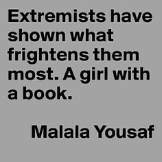 """MALALA YOUSAFZAI. When the Taliban took control of the Swat Valley in Pakistan, one girl spoke out. Malala Yousafzai  (author of """"I Am Malala The Girl Who Stood Up for Education and was Shot by the Taliban"""") refused to be silenced and fought for her right to an education."""
