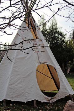 Diseño y confección de carpa de indio, estructura solida, para 6 personas recostadas, sentadas máximo 10.