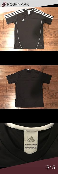 Boys Adidas soccer shirt Sz Small In good used condition. Black with no stains, holes, or tears. I try to describe all of my items as accurately as possible.  Please ask questions if needed before purchasing. adidas Shirts & Tops Tees - Short Sleeve