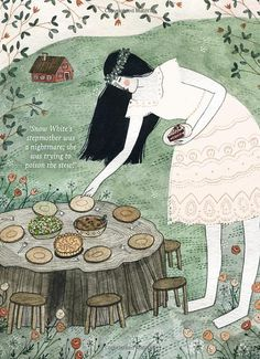illustration by Ylena Bryksenkova for Fairytale Food by Lucie Cash