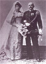 Wedding photo of Rudolph McLeod and Margaretha Zelle, Amsterdam 11 july 1895 (Collection Mata Hari, Fries Museum Leeuwarden).