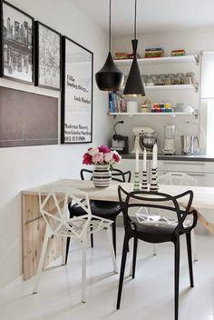 Maison: Designklassiker – Chair One von Konstantin Grcic Style At Home, Kitchen Interior, Kitchen Decor, Kitchen Modern, Kitchen Dining, Swedish Kitchen, Nordic Kitchen, Kitchen Black, Kitchen Wood