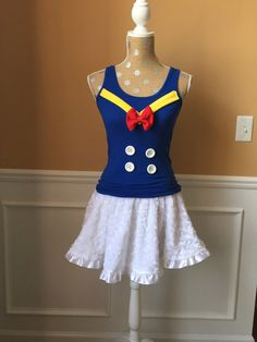 Don the Duck Sailor Inspired Running Complete Outfit / skirt / Costume Halloween