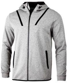 Id Ideology Men's Ajax Zip Hoodie, Created for Macy's - Gray 3XL