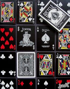 Black Stealth - Bicycle playing cards