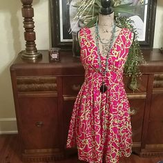 Flirty Spring Sleeveless Dress Doesn't take much to add to this spring number! Goes great with nude or colored heels. Get it now before Spring hits the air! Very good condition. Worn only twice. Tag says Medium. Fits possibly a 4 to 10. Axyeh Dresses