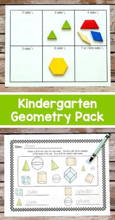 My Kindergarteners loved these geometry activities! We used the shape sorting mats in centers, and the other activities during our 2-D and 3-D shape units. $