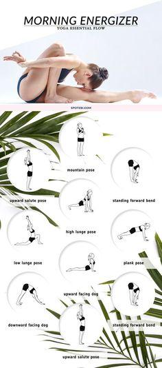 """Estirar todo el frente y la parte posterior del cuerpo, aumentar la fuerza y aumentar sus niveles de energía con este flujo de energización 20 minutos de cuerpo completo. Una rutina de yoga por la mañana que proporciona la cantidad de estiramiento y concentración que necesita para tener un día tranquilo y productivo. rel=""""nofollow"""" href=""""http://www.spotebi.com/yoga-sequences/morning-energizer/"""" www.spotebi.com / ..."""