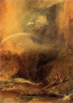 Joseph Mallord William Turner (1775-1851)  Devil's Bridge, St. Gothard