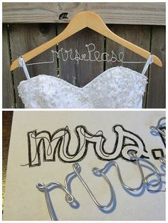 DIY Wedding Name Hanger!! So much cheaper than buying one off of Etsy!