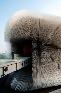 Cool Building -  Thomas Heathwick's Pavillion for the Shanghi expo - each spike has a unique seed of a plant species in it.