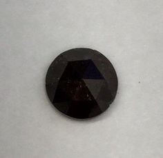 Natural Black Rustic Diamond, Round natural diamond, 1.51 carat Rose Cut Diamond, Loose Natural Diamond will come with Free Custom Design