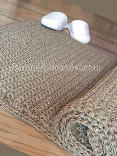Tapis de pied 7 x 2 chemin de couloir naturel, fait main, fibre de Jute naturelle tapis, no.009