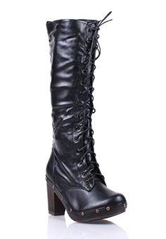 3a5899eb84e Cheap Comfortable Black Suede Flat Heel Knee High Boots
