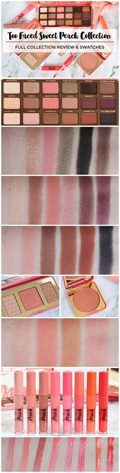 Too Faced Sweet Peach Collection Review - Perilously Pale
