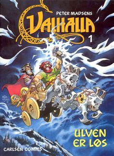 Valhalla 1 - successful comic in 15 installments about the Nordic Gods, their trials, failures and successes - illustrations by Peter Madsen - Denmark